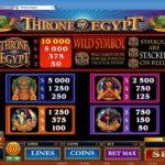 В игровой слот Throne Of Egypt можно играть в онлайн-режиме